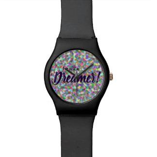 I'm just a dreamer, rainbow design watch