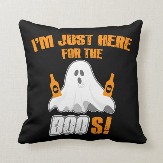 I'm Just Here For The Boo's Halloween Pillow
