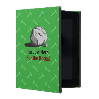I'm Just Here For The Rocks! iPad Case