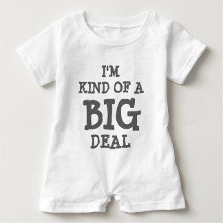 I'm kind of a BIG deal baby romper for kids