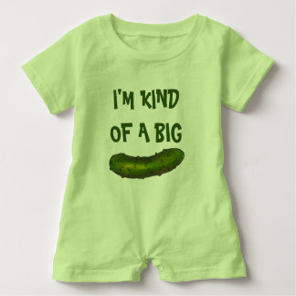I'm Kind of a Big Dill (Deal) Green Pickle Pickles Baby Romper