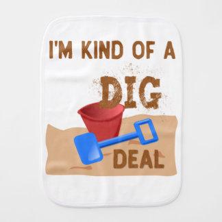 I'm Kind of a DIG Deal Burp Cloth