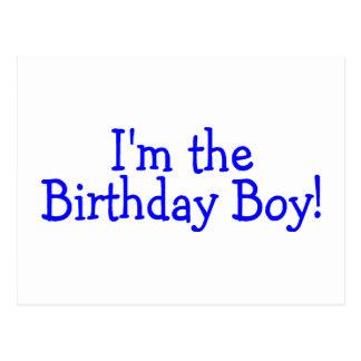 Im le bleu de garçon d'anniversaire carte postale