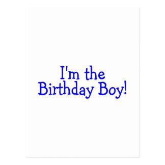 Im le garçon d'anniversaire (bleu) carte postale