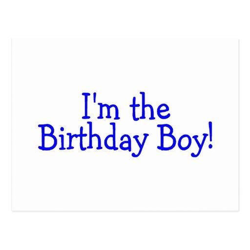 Im le garçon d'anniversaire (bleu) cartes postales