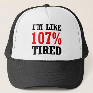 I'm Like 107% Tired Funny Ball Cap Hat