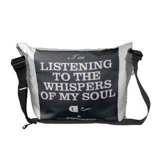 I'm Listening To The Whispers Of My Soul Courier Bag