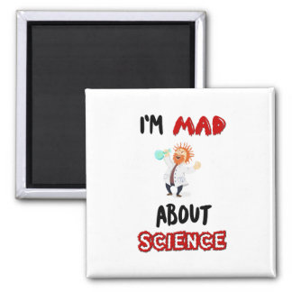 I'm mad about science Protest March Magnet