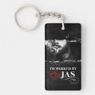 I'm Marked Keychain: Jas Double-Sided Rectangular Acrylic Keychain