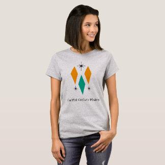I'm Mid Century Modern Diamonds Orange Turquoise T-Shirt