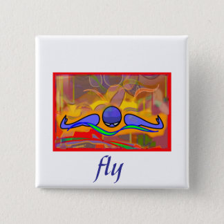 IM Morn Fly 2 Inch Square Button