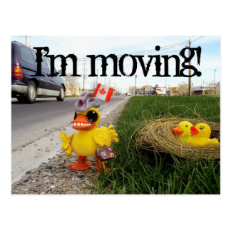 I'm moving! postcard
