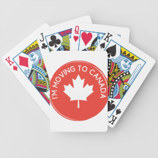 I'm moving to Canada because of President Trump Bicycle Playing Cards