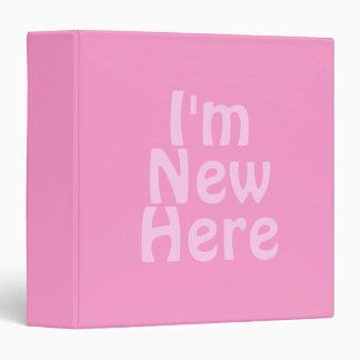 I'm New Here. Pink. Custom Binders