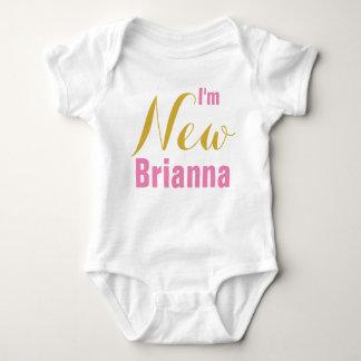 I'm New Personalized Baby Jersey Bodysuit