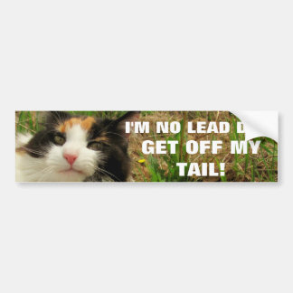 I'm No Lead Dog Cat Meme Bumper Sticker