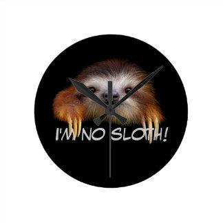 I'm No Sloth Wall Clock