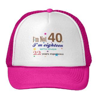 I'm Not 40 - Funny Birthday Gift Trucker Hat