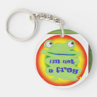 i'm not a frog Double-Sided round acrylic keychain