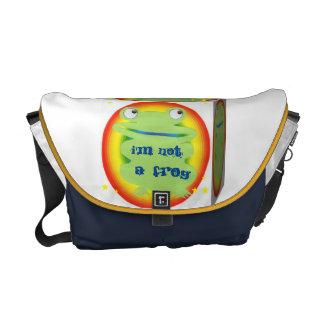 i'm not a frog messenger bag