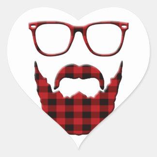 im not a hipster heart sticker