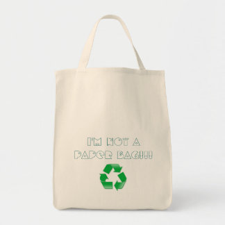 I'm not a paper bag, recycling