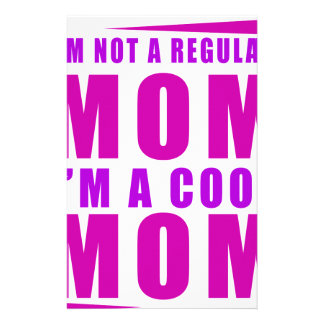 I'm not a regulus mom i'm cool mother stationery