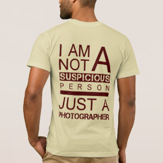 Im not a suspicious person red t-shirt