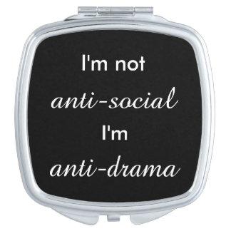 I'm not anti-social.. makeup mirrors