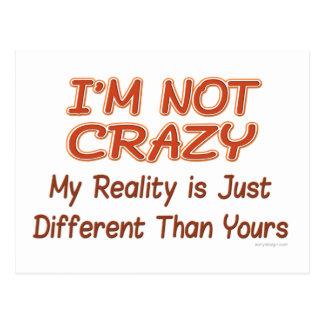 I'm Not Crazy Postcard
