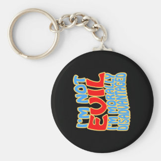 I'm Not Evil, I'm Morally Disadvantaged Basic Round Button Keychain