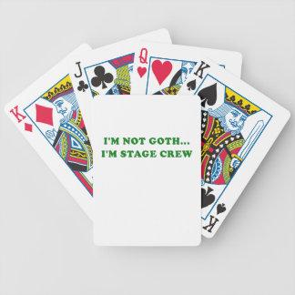 Im Not Goth Im Stage Crew Poker Deck