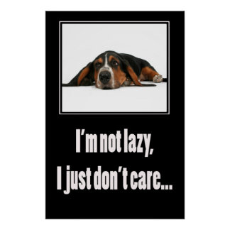 I'm not lazy I just don't care Poster