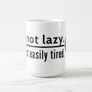 I'm not lazy. I'm just easily tired. Blue emoticon Coffee Mug