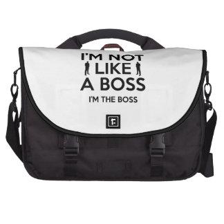 I'm Not Like A Boss. I'm The Boss. Laptop Messenger Bag
