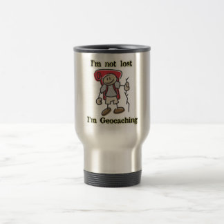 """I'm Not Lost"" Geocaching Graphic Stainless Mug"