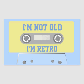 """I'm not old, I'm retro"" Sticker"