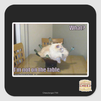 I'm not on the table square sticker