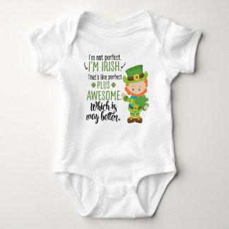 I'm Not Perfect I'm Irish Leprechaun Baby Bodysuit