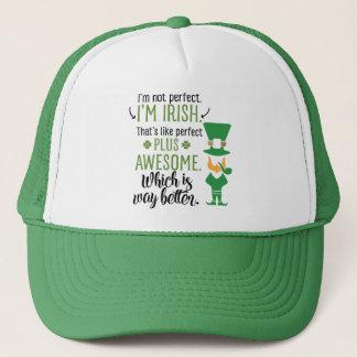 I'm Not Perfect I'm Irish Leprechaun Trucker Hat