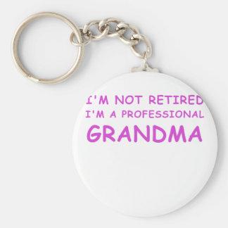 Im not Retired Im a Professional Grandma Basic Round Button Keychain
