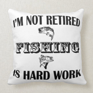 I'm Not Retired Throw Pillow