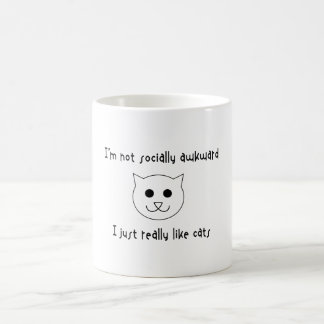 I'm Not Socially Awkward, I Just Really Like Cats Magic Mug