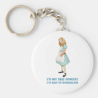 I'M NOT THAT INNOCENT, I'VE BEEN TO WONDERLAND KEYCHAIN