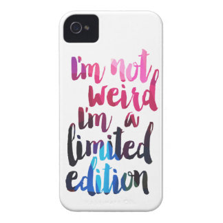 Im not weird Im limited edition quote teen humour iPhone 4 Case