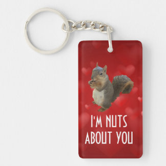 I'm Nuts About You Brown Squirrel Keychain