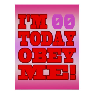 I'm - Obey Me! Funny Customize Birthday Template Posters