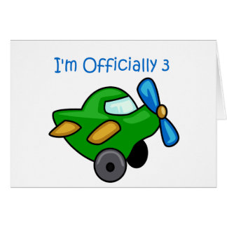 I'm Officially 3, Jet Plane Greeting Card