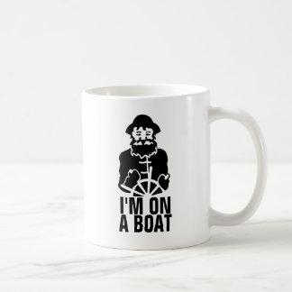 I'm On a Boat Basic White Mug