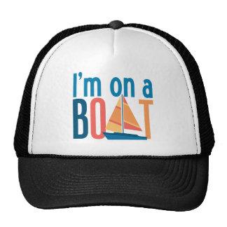 I'm on a Boat Mesh Hats
